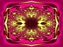 Богато украшенная пряжка в цвете иллюстрация вектора