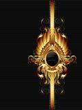Богато украшенная рамка с оружиями Стоковые Фотографии RF