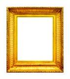 Богато украшенная рамка фото золота стоковое фото rf