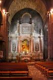 Богато украшенная церковь Interiror стоковые изображения