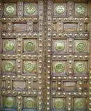 Богато украшенная Catalonian дверь в Барселоне Стоковое Изображение