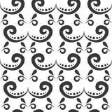 Богато украшенное флористического безшовного стиля ткани иллюстрации вектора орнамента предпосылки картины цветка mehendi свирли  бесплатная иллюстрация
