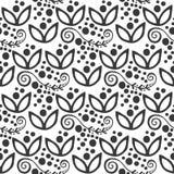 Богато украшенное флористического безшовного стиля ткани иллюстрации вектора орнамента предпосылки картины цветка mehendi свирли  иллюстрация вектора