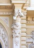 Богато украшенные изобразительные искусства вводят детали в моду известного большого казино или казино Монте-Карло в Монако на Ме стоковая фотография rf