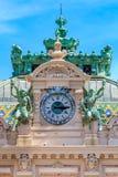 Богато украшенные изобразительные искусства вводят детали в моду известного большого казино или казино Монте-Карло в Монако на Ме стоковое изображение