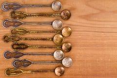 Богато украшенные ложки чая эры тахты с космосом экземпляра Стоковое Изображение RF