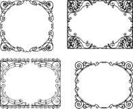 Богато украшенные рамки в стиле nouveau искусства иллюстрация вектора