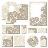Богато украшенные флористические шаблоны стиля дела Стоковая Фотография