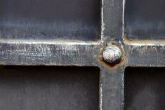 Богато украшенные чугунные элементы украшения строба металла стоковые изображения