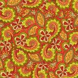 Богато украшенный абстрактного флористического вектора цветастое Стоковое Изображение RF