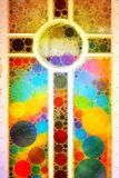 Богато украшенный абстрактный крест мозаики иллюстрация штока