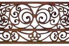 Богато украшенный деталь загородки стоковое изображение