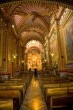 Богато украшенный интерьер церков Стоковое Фото