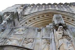 Богато украшенный Йельский университет скульптуры Стоковые Изображения