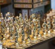 Богато украшенный комплект шахмат Стоковое Изображение