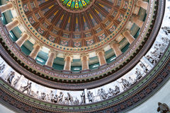 Богато украшенный купол внутри здания столицы государства, Спрингфилда, Иллинойса Стоковое Фото