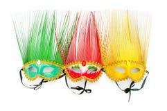 Богато украшенный маски изолированные на белизне Стоковое Фото
