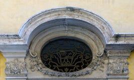 Богато украшенный мраморный свод двери, Ro, я, Италия Стоковая Фотография RF
