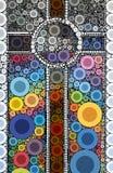 Богато украшенный светлый абстрактный крест мозаики иллюстрация вектора
