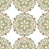 Богато украшенный симметричный орнамент в восточном стиле на безшовной предпосылке Стоковые Фото
