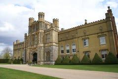 Богато украшенный фасад с castellated башнями Стоковая Фотография RF