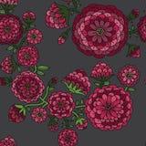 Безшовная флористическая картина. Стоковое Изображение