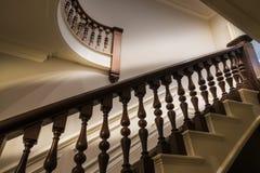 Богато украшенный banister лестницы стоковая фотография rf