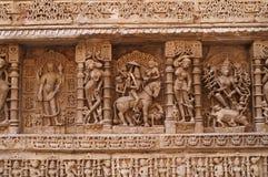 богато украшенный carvings индийское стоковые фотографии rf