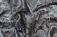 Богато украшенный Drapery, ткань парчи Стоковая Фотография RF
