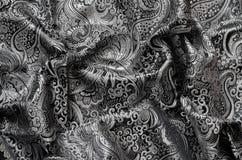 Богато украшенный Drapery, ткань парчи Стоковое Изображение
