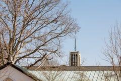 Богато украшенный Steeple на часовне аббатства Стоковые Фотографии RF