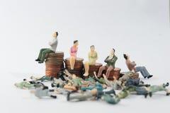 Богатые человеки и бедные человеки стоковая фотография