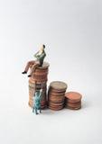 Богатые человеки и бедные стоковое изображение