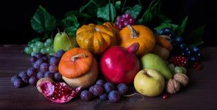 Богатый сбор различных фруктов и овощей Стоковое Изображение RF
