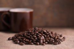 Богачи зажарили в духовке кофейные зерна Стоковое фото RF