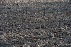 Богачи, почва черноты среднезападная в вспаханном поле готовом для pla весны Стоковое Фото