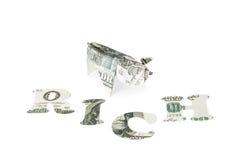 Богачи origami свиньи Стоковое фото RF