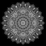 Богемская индийская печать мандалы Винтажный стиль татуировки хны иллюстрация вектора