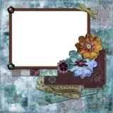 богемская флористическая рамка Стоковое Фото