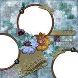 богемская флористическая рамка Стоковая Фотография