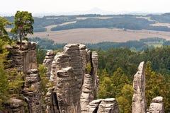 богемский чехословакский панорамный взгляд рая Стоковые Фотографии RF