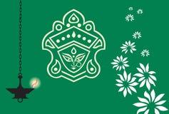 Богина с цветком Стоковое Изображение RF