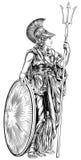 Богиня грека Афины иллюстрация вектора