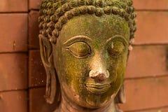 Богиня штукатурки священная с зеленым мхом Стоковая Фотография