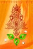 Богиня Durga против предпосылки акварели Стоковые Фото