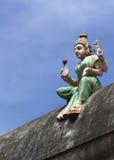 Богиня Lakshmi на стене виска Стоковое Изображение RF