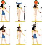 Боги вектора Египта Стоковое Изображение