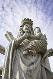 Богоматерь с младенцем Стоковая Фотография RF