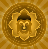 бог Будды иллюстрация вектора