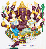 бог индусский индийский названный maha ganapati Стоковое фото RF